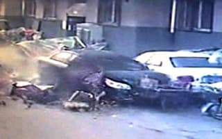 Driver in China causes carnage after crashing through street