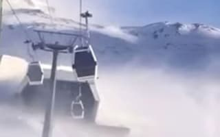 Five Brits among 153 skiers trapped in cable cars for seven hours
