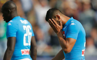 Napoli suffer first defeat of Serie A season