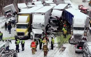 Three killed in 46-car pileup
