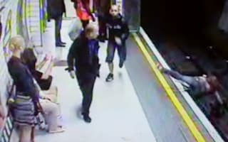 Video: Shocking moment commuter pushes woman on to Tube tracks