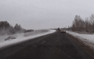 Even the police are a hazard on Russian roads