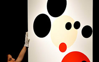 Damien Hirst's Mickey Mouse up for auction