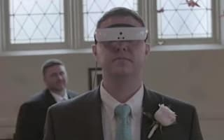 Couple recreates wedding so blind husband can see it with new glasses