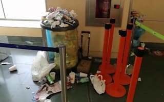Ibiza airport covered in rubbish as cleaners go on strike