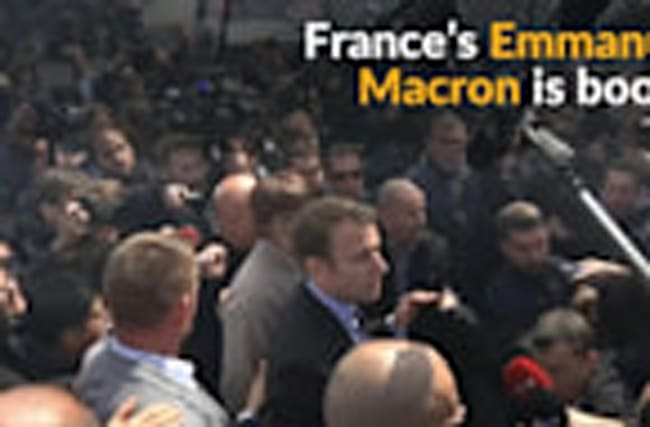 Macron gets booed at Whirlpool plant
