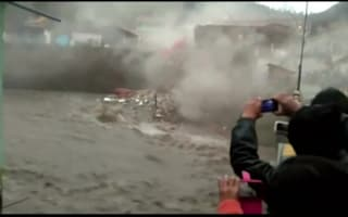 Hotel in Peru collaspes into river in heavy storm