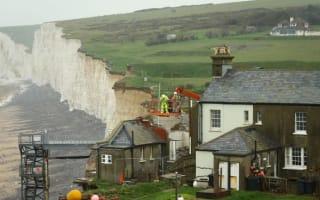 Demolition work at erosion cottage