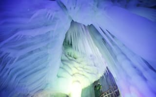 Things to see before you die: Coloured ice caves in China