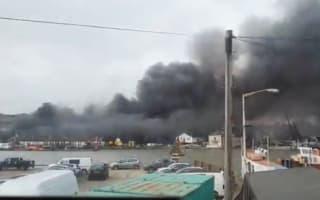 Isle of Wight fire: Ferries stopped as blaze breaks out at boatyard