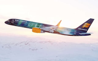 Icelandair launches Northern Lights inspired plane