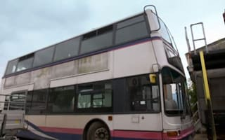 Family delighted by £20,000 home - in a double-decker bus