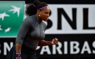 Serena sparkles in Rome, Bouchard beats Jankovic