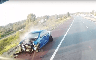 Car loses control in Fast and Furious-style crash