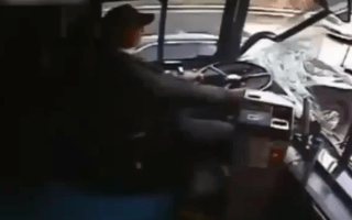 Video: Bus driver nods off, causes carnage