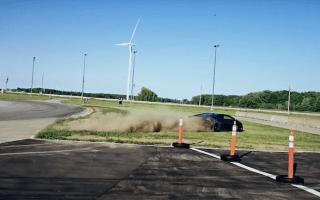'Brake failure' causes Lamborghini to nearly hit wall