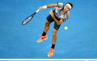 Federer through in four sets on grand slam return