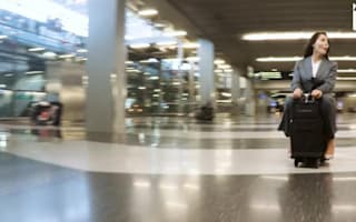 This bag lets you ride luggage around the airport