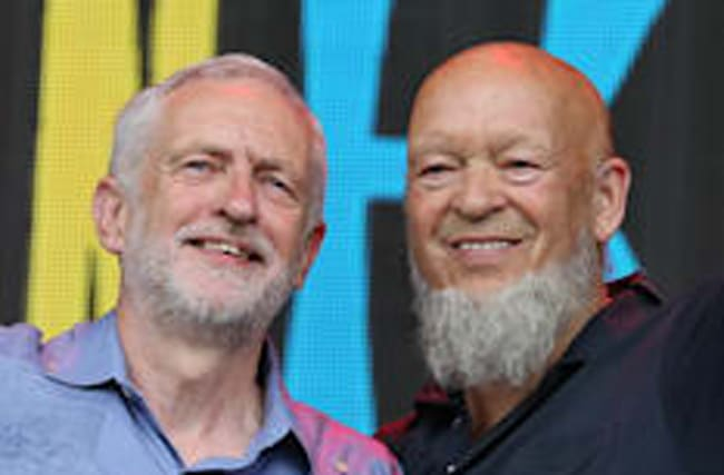 Corbyn tells Eavis he'll be Prime Minister 'in six months'