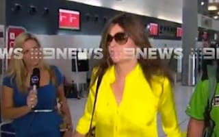 Video: Elizabeth Hurley loses her cool with reporter at Perth Airport