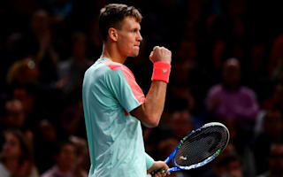 London hopeful Berdych through in Paris, Raonic firing on all cylinders