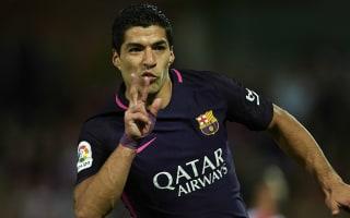 Granada 1 Barcelona 4: Suarez stars & Neymar hits 100 as champions impress without Messi