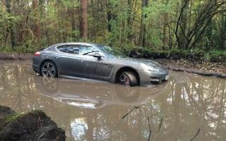 Footballer abandons Porsche in puddle after sat nav wrong turn