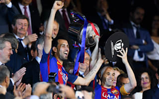 Iniesta: I needed Busquets' help to lift the Copa del Rey trophy!