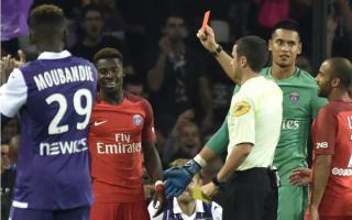 Toulouse 2 Paris Saint-Germain 0: Aurier sees red as Emery's side slip to surprise defeat