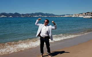 Arnold Schwarzenegger dips his toes in Cannes waters