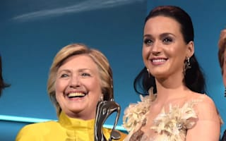 Hillary Clinton surprises Katy Perry with award at Unicef gala