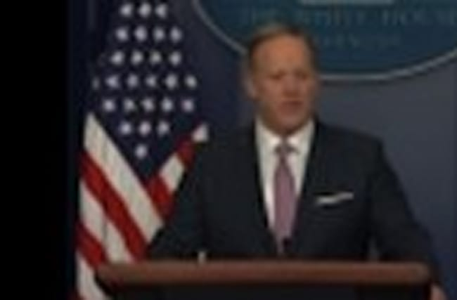 Sean Spicer Holds First Formal Press Briefing
