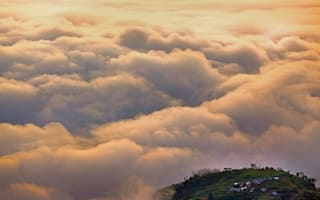 Walking on air: The village where everyone has their head in the clouds