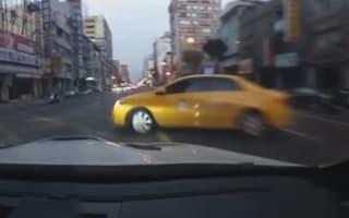 BMW has big collision after speeding through Taiwan