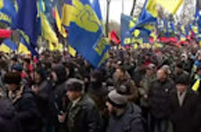 Ukraine nationalists march to demand new leadership