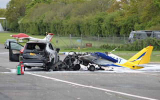 Volvo driver pulls pilot from wreckage after plane crashes into car