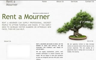 Would you 'rent a mourner'?
