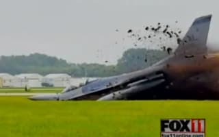 Video: Pilot walks away from nosedive crash at air show