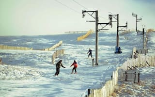 Skiers and snowboarders hit the slopes... in Cumbria