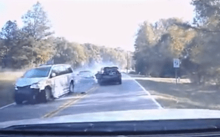 Reckless overtake ends in four car crash
