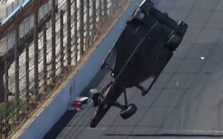 Video: IndyCar driver walks away from terrifying crash