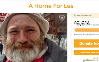Student raises £6,600 for homeless man to help him recover from surgery
