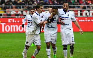 AC Milan 0 Sampdoria 1: Muriel leaves Montella's top-three hopes in tatters