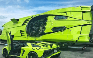 One-off Lamborghini Aventador SV comes with matching speedboat
