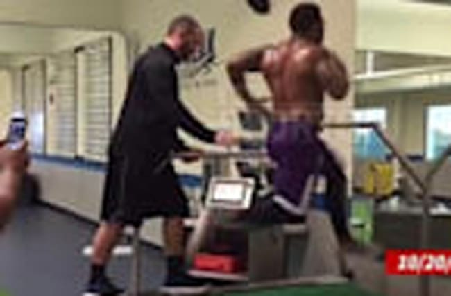 Ray Rice -- Hits 22 MPH on Treadmill ... I Still Got NFL Speed!!