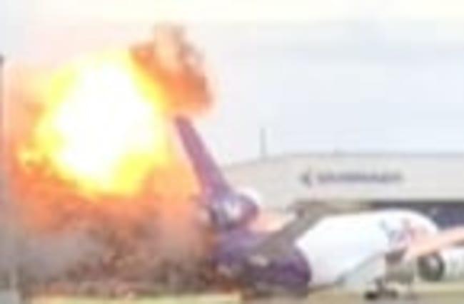 FedEx Plane Explodes at Fla. Airport