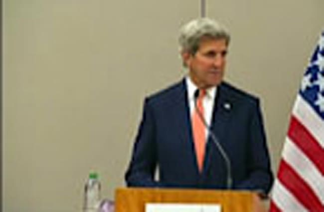 """""""A few narrow issues"""" remain with Syria talks: Kerry"""
