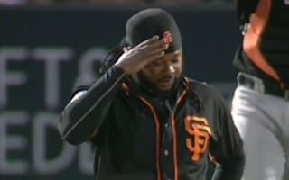 Cueto pitches three innings after taking line drive to head