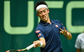 Nishikori survives plucky Pouille, Ferrer dumped out in Halle
