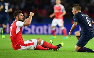 Giroud slams Verratti after red cards